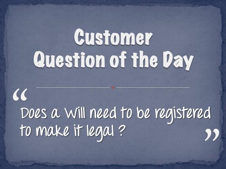 Register a Will